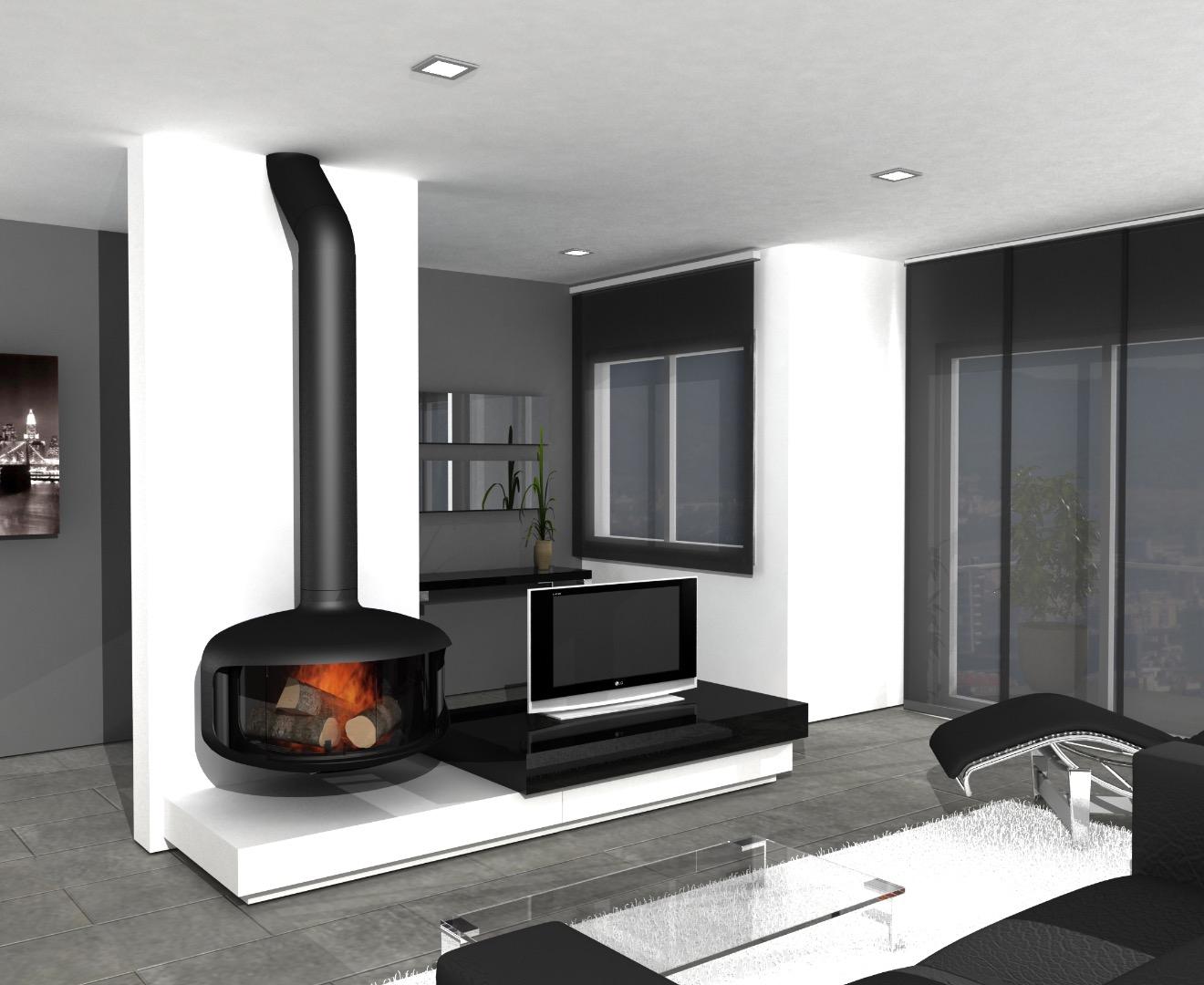 Aquastil chimeneas y calefacci n de biomasa pellets - Chimeneas de pared modernas ...